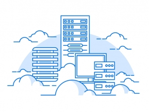 48038780 - cloud service. internet and computer, communication information, server. flat vector illustration